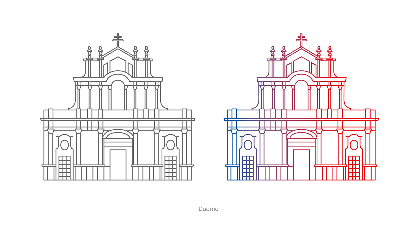 Studio K95 - Red Bull Sant'Agata - Illustrazione Duomo