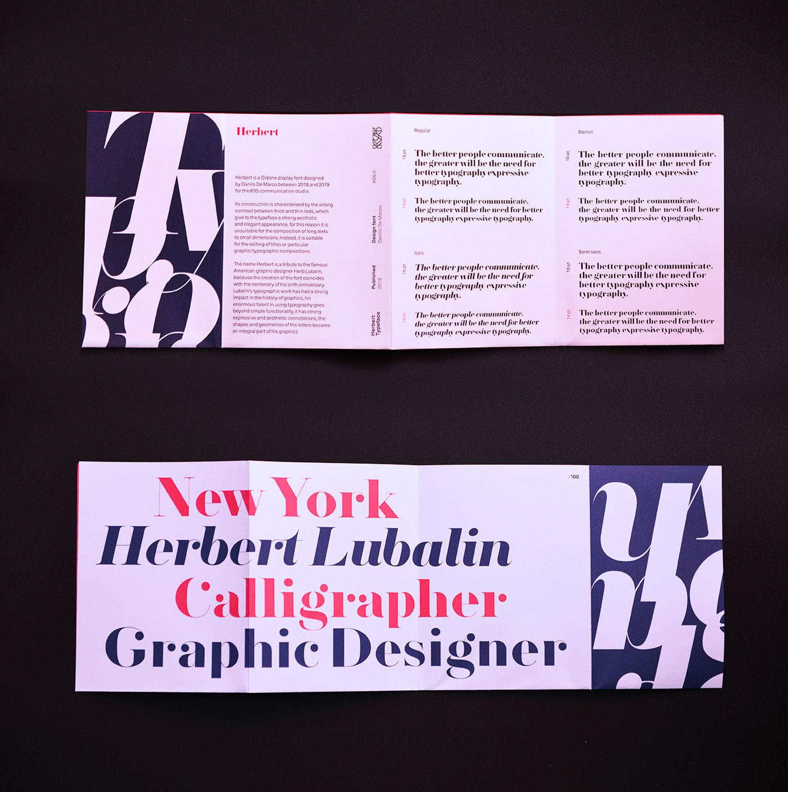 Herbert Typeface - Specimen open