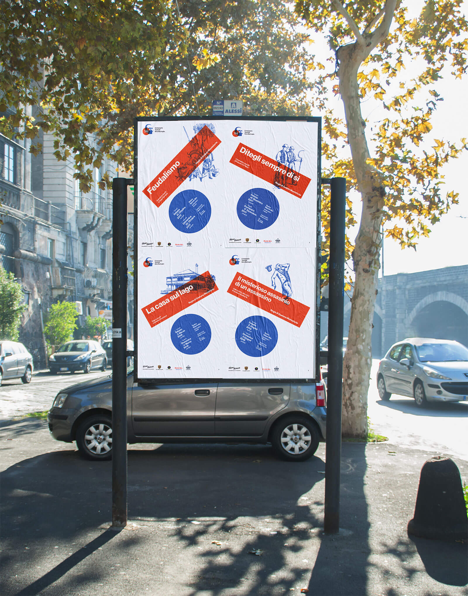 Compagnia Nino Martoglio - Manifesto pubblicitario