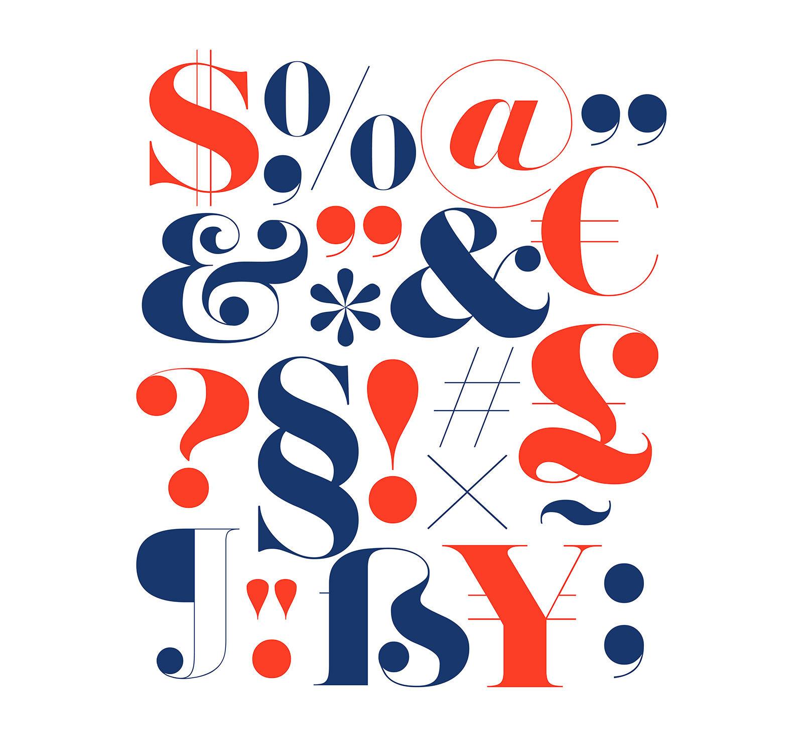 Herbert Typeface - Letters & Numbers