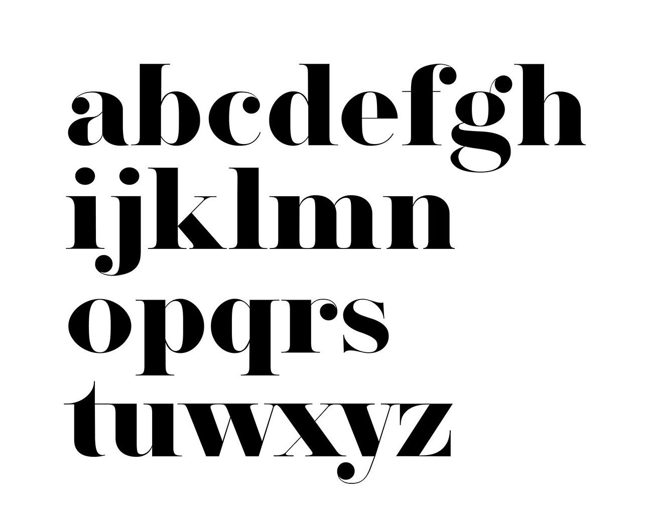 Herbert Typeface - Letters