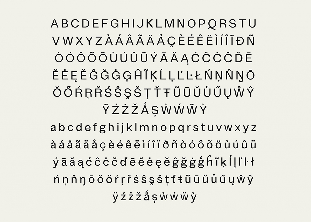 Stelvio Grotesk - Letters