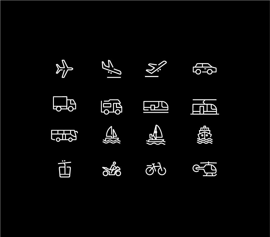 Stelvio Grotesk Icons - Transport